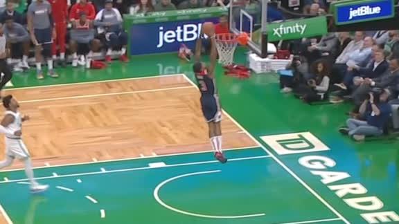 Bradley Beal makes 3-foot dunk