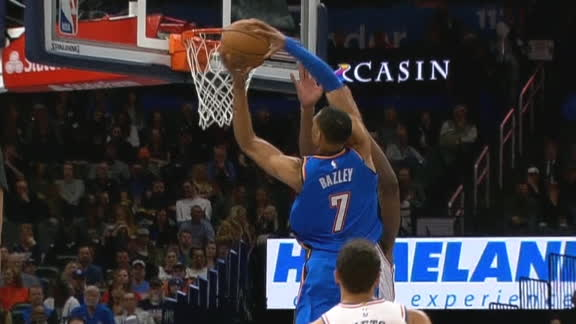 Bazley takes off to dunk on Embiid