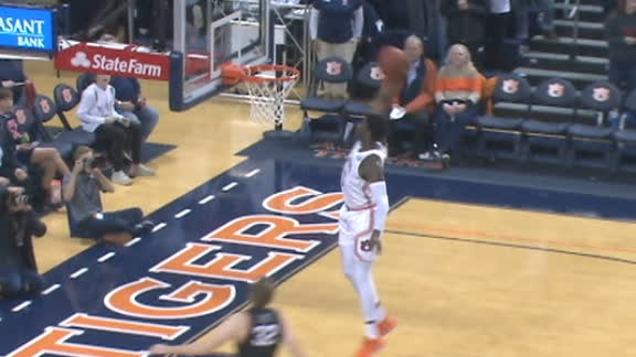 Purifoy drops the hammer on the fast break