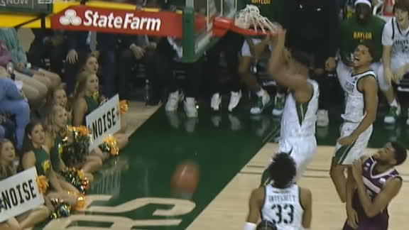 Vital crashes the rim and slams it home for Baylor