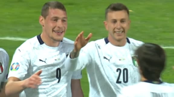 Belotti's brilliant finish puts Italy 3-0 up