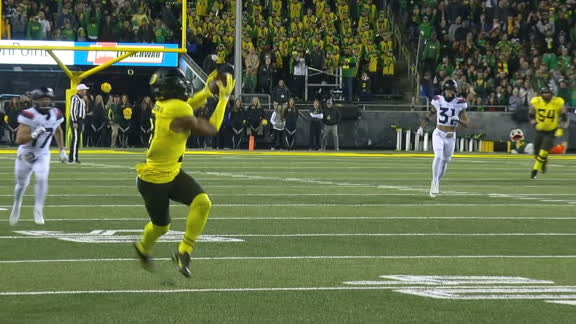 Herbert launches 73-yard TD to Johnson