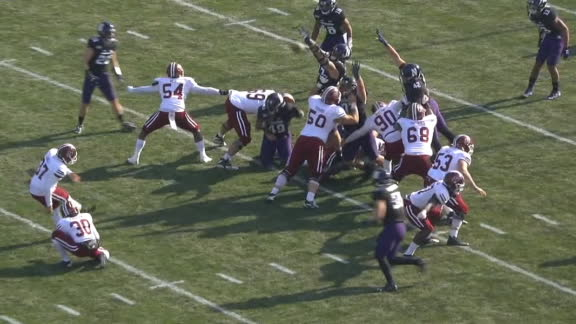 Northwestern returns blocked FG for TD