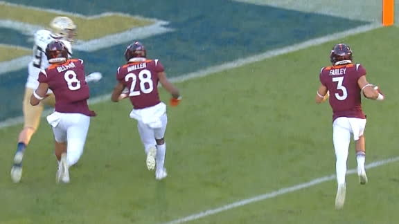 Farley gets a Hokies pick-6
