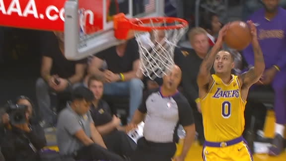 Kuzma elevates to finish alley-oop