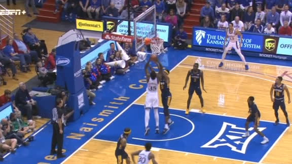 Azubuike muscles his way to the basket