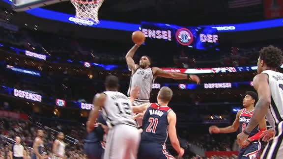 Spurs take late lead on Gay's massive slam in the lane
