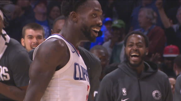 Beverley is hyped after corner-pocket 3 in OT