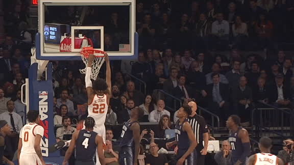 Texas' Jones hustles and throws it down
