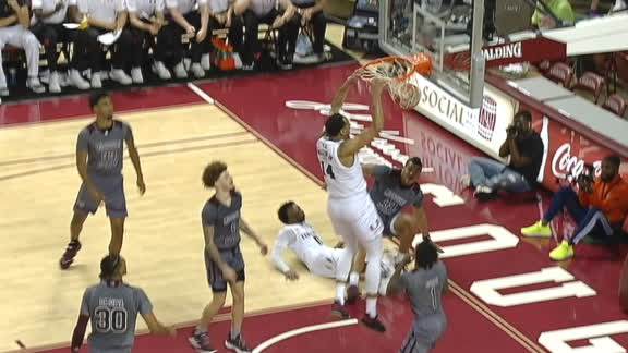 Miami's Miller cleans up the glass with two-handed slam