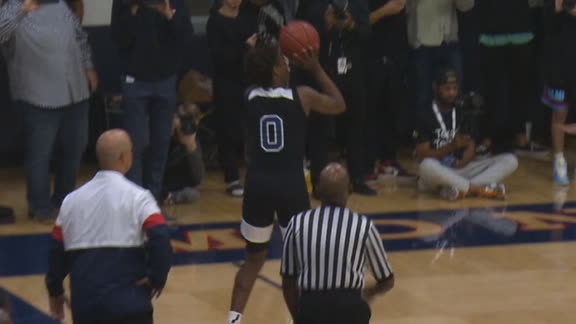 Bronny's first HS bucket is a 3-pointer