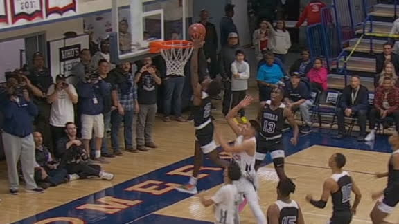 Zaire Wade throws down first dunk of the season