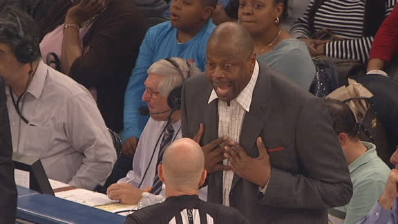 Ewing argues with refs, gets technical foul