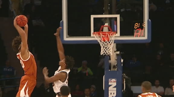 Texas' Sims throws it down