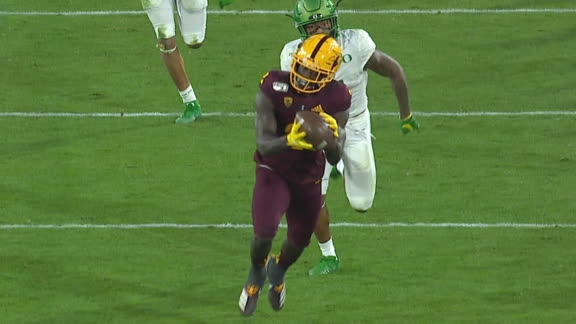 Aiyuk blows by Oregon coverage for 81-yard TD