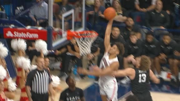 Arizona's Chase Jeter goes up for the one-handed jam