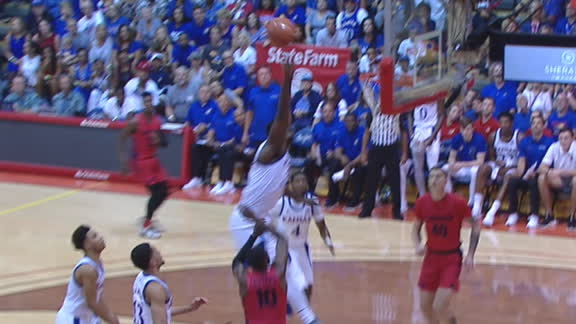 Azubuike sends Crutcher's floater into the stands