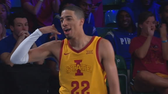 Iowa State's Haliburton drops in 3-pointer plus the foul