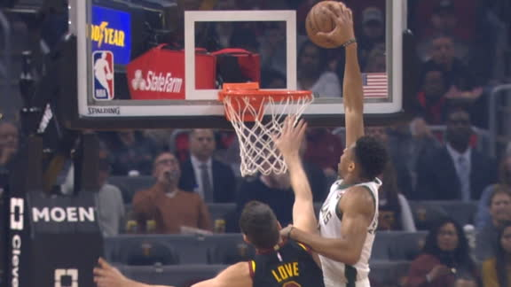 Giannis throws down a hammer on Love