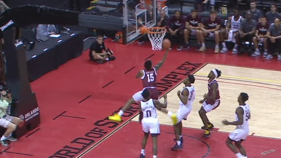 Pierre-Louis' steal leads to acrobatic and-1 finish