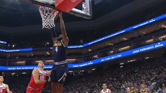 Millsap spikes alley-oop lob from Barton