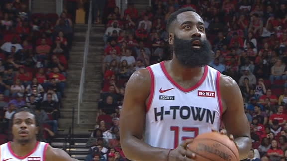 Harden hits 60 at the free throw line