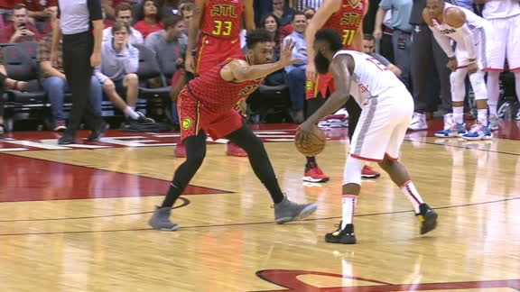 Harden caps off 31-point half with sweet step-back jumper