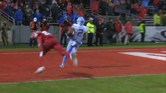 Brown's 52-yard TD increases UNC's lead