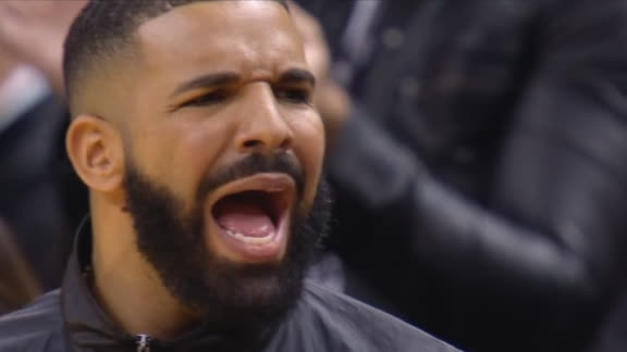 Drake is hyped after Lowry and-1