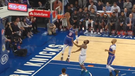 Gibson's steal leads to Barrett's one-handed jam