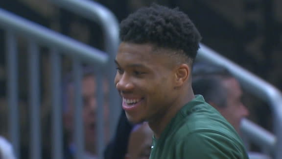 Bucks fans chant 'Happy Birthday' to Giannis