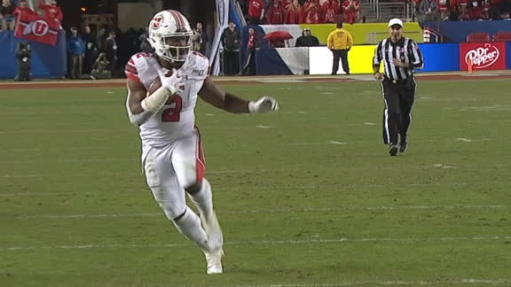 Huntley connects with Moss for 24-yard TD