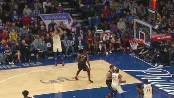 Simmons hits second 3 of his career