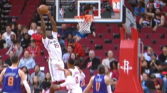 Westbrook feeds Capela with the alley-oop