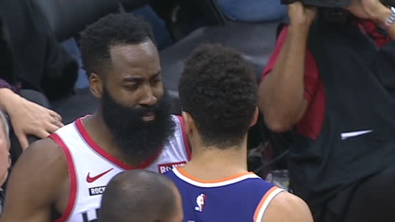 Harden, Booker get T'd up after heated exchange