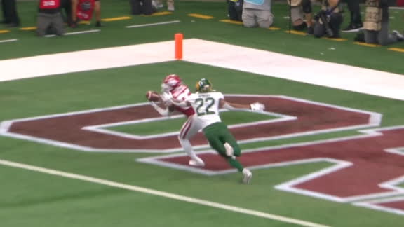 Oklahoma's Basquine makes the grab for 18-yard TD