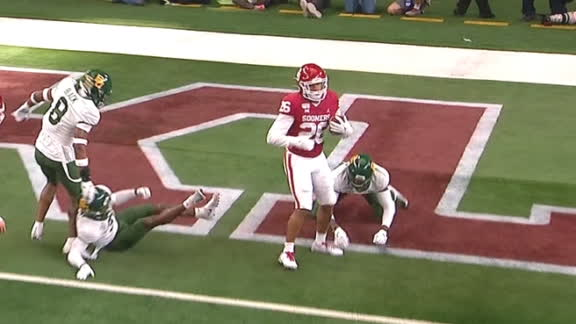 Brooks muscles his way to score Oklahoma's 1st TD