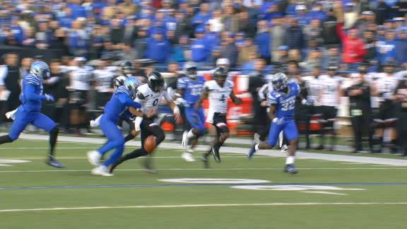 Memphis forces fumble after Ridder's long run