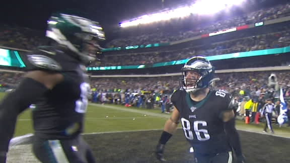 Ertz scores game-winning TD in OT