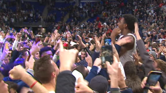 Penn State fans storm court after beating Maryland