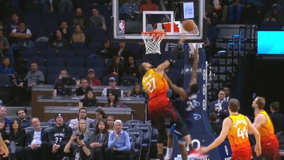 Gobert rejects Wiggins on back-to-back possessions