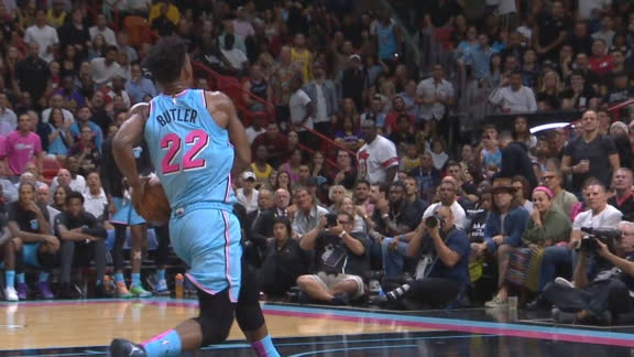 Butler converts steal into easy dunk