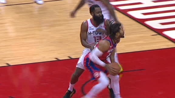 Rose spins on Harden for lay-in