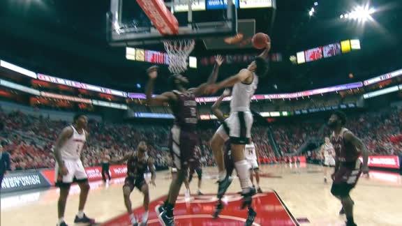 Louisville's Nwora flushes powerful baseline slam