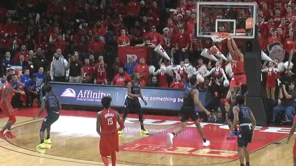 Harper starts off hot with a pair of dunks for Rutgers