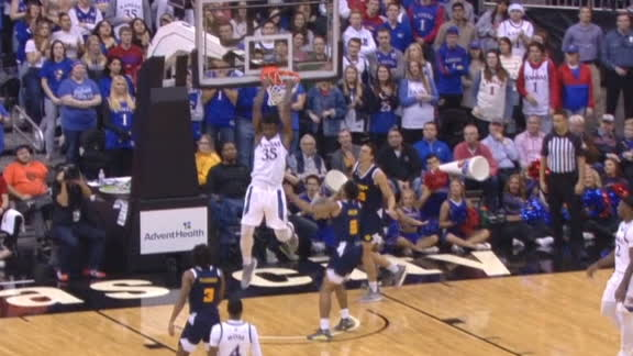 Azubuike goes up for the reverse jam