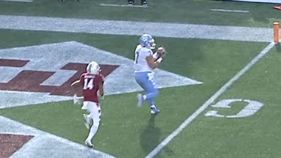 Howell makes the TD catch to extend UNC lead to 41-6