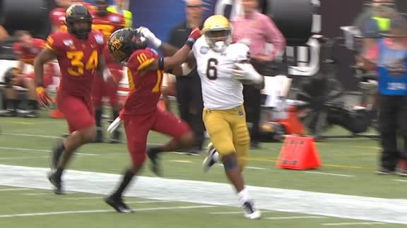 Notre Dame's Jones stiff-arms his way to 84-yard TD