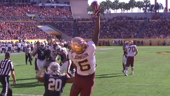 Johnson makes wild, one-handed TD grab