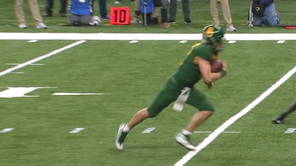 Baylor's Brewer pushes forward for the TD